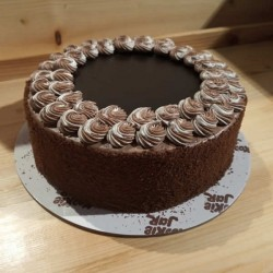 Cakes Eggless Chocolate Cake with one greeting card