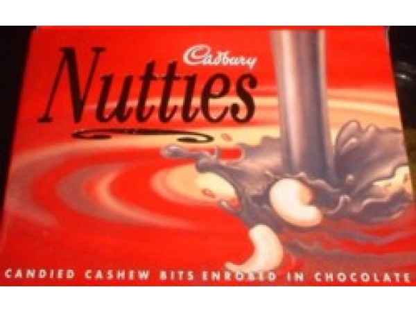 1 packet of Cadburys cashew nutties