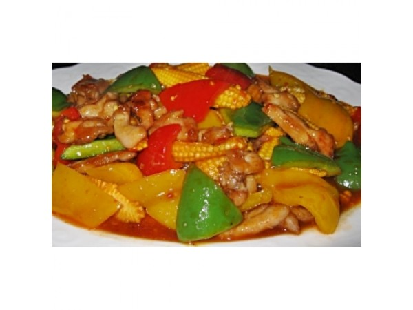 1 plate Sweet and sour Vegetable