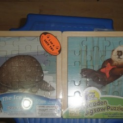 2 Pcs Wooden Jigsaw Puzzle