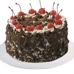 Black Forest - 2 LB Cake with one greeting card