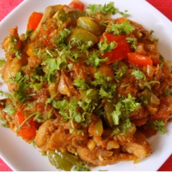 1 Plate Chicken Capsicum Vegetable