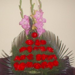 Flower Bouquet with one greeting card