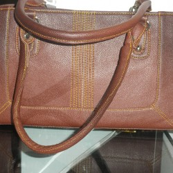 Ladies hand bag leather(chocolate)