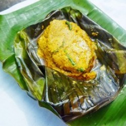 One Plate Ilish Paturi  - 1 Ps or One Plate Bheti Paturi- 1 Ps  (Based on Availability)