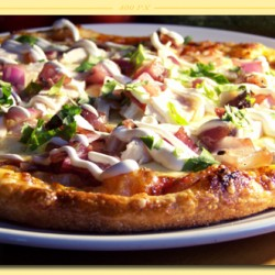 Cheese & Barbeque Chicken Pizza