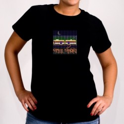 Pather Panchali Tram T Shirt for Ladies