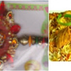 Rakhi with Chicken Biriyani