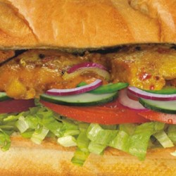 Subway-Chicken Achari Burger