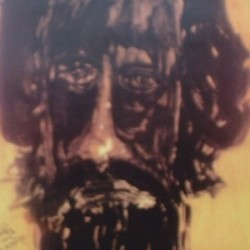 Self-potrait by Rabindranath Tagore